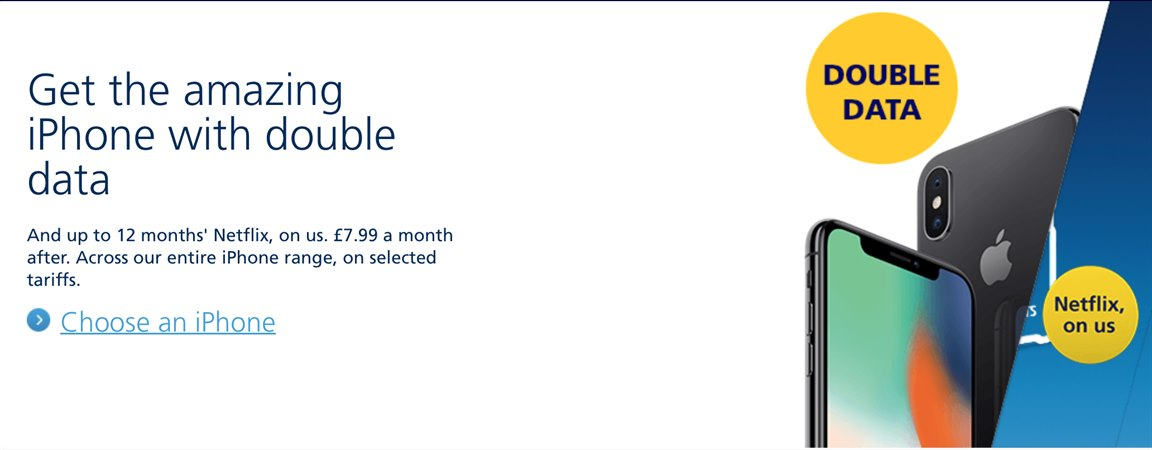 Get any iPhone with double data from O2